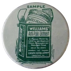 Vintage Sample - Williams' Anti-Pain Ointment Tin – Old Medical Advertising