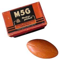 Vintage Figural Football Soap Bar - M5G Intercollegiate Football with Original Box
