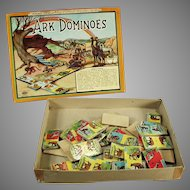 Vintage Ark Dominoes Game with Original Box - Colorful Game with Animal Graphics