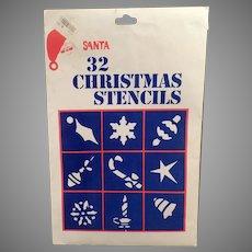 Unused Vintage Christmas Window Stencils - 30 Designs