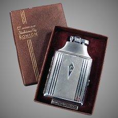 Vintage Ronson Mastercase Cigarette Case Lighter Combo with Original Box