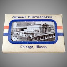 Vintage Chicago Souvenir Photo Pack Mailer with Black & White Photographs