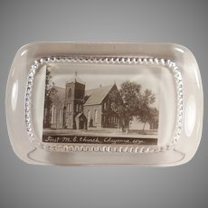 Vintage Advertising Paperweight - First Methodist Church Cheyenne, Wyoming