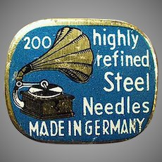 Vintage Phonograph Needle Tin - Highly Refined Steel Phonograph Needles Tin