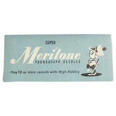 Vintage Steel Phonograph Needle Packet - Meritone 25 for 78rpm Records