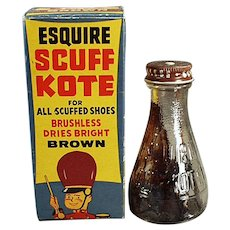 Vintage Esquire Scuff Kote Shoe Polish with Fun Circus Graphics on Box