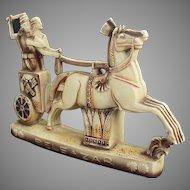 Vintage Schafer and Vater - Impressive Belsazar Figurine with Horse Drawn Chariot