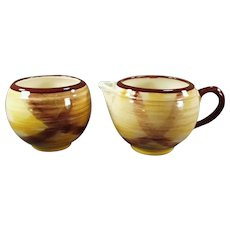 Vintage Vernon Kilns Cream & Sugar  Set - Organdie Pattern Cream