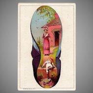 Vintage Advertising Trade Card – B. Hafertepen Boot and Shoes Hamilton, Ohio