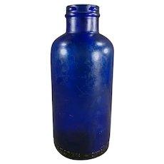 Vintage Cobalt Blue Bromo-Seltzer Bottle - Old Dispensing Bottle