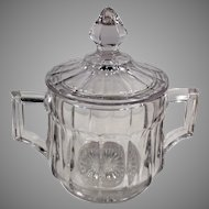 Vintage Heisey Glassware #393 Pattern Covered Sugar Bowl