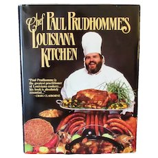 Vintage Chef Paul Prudhomme's Louisiana Kitchen Recipe Cook Book