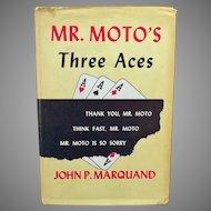 Vintage 1938 Mystery Novel - Mr. Moto's Three Aces - Hardbound Book