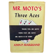 Vintage 1938 Mystery Novel - Mr. Moto's Three Aces - Hardbound Book