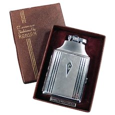 Vintage Ronson Mastercase Cigarette Case Lighter Combo with Original Box