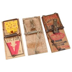 Three Vintage Mouse Traps – Victor and McGill Can't Miss