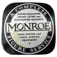 Vintage Adding Machine Ribbon Tin – Monroe Calculating Machine Co.
