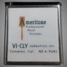 """Vintage Advertising Steel Tape Measure - ¼""""  & 1/8"""" Scale"""