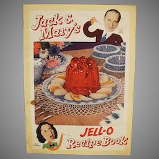 Vintage Jell-O Recipe Booklet Featuring Jack Benny & Mary Livingstone - Comic Strip Format
