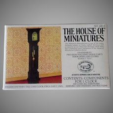 Vintage Miniature Doll Furniture – William & Mary Tall Case Clock #40018 Unassembled Kit