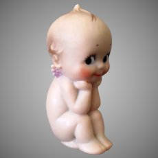 Vintage Plastic/Vinyl Rose O'Neill Cameo Kewpie in Very Cute Pose
