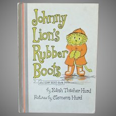Child's Vintage 1972 Storybook – Johnny Lion's Rubber Boots - First Edition