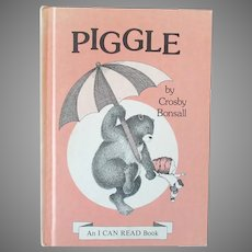 "Child's 1973 Vintage I Can Read Book - ""Piggle"" Crosby Bonsall  First Edition"