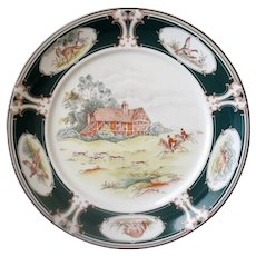 "Vintage Noritake Keltcraft Charger Ireland 9170 Pursuit Hunting Scene 12"" Chop Plate"