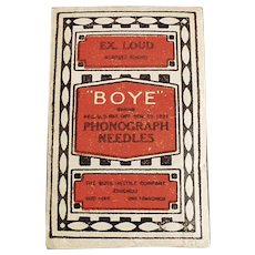 Vintage Boye Steel Phonograph Needles - Unopened Package of 80