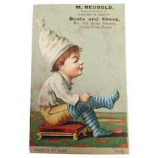 Vintage Advertising Trade Card San Francisco - Boot and Shoe Dealer at Russ House