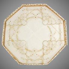 Two Vintage Hankies - Sheer Handkerchiefs with Gold Trim in Original Packaging
