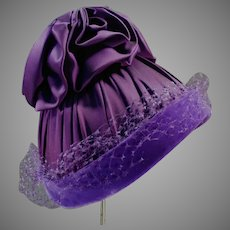 Vintage Royal Purple, Outrageously Purple Hat - No Label