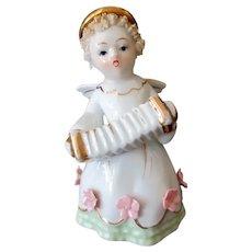 Vintage Lefton Porcelain - Little Angel with Accordion