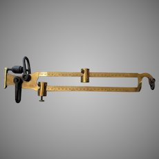 Large Vintage Kimball Bros. Brass Beam Scale – Big and Beautiful