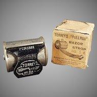 Vintage Torrey's Pullman Retractable Razor Strop with Original Box