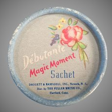 Vintage Debutante Magic Moment Sachet Box - 1950's Fuller Brush Little Powder Box