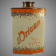 Vintage Coty Talc Powder Tin - Perfumed L'Origan