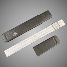 Vintage Post #1447 Slide Rule with Magnifing Bar - Hemmi Japan with Case