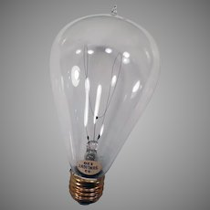 Vintage Electric Light Bulb – Looped Filament 32/120 Sunlight - Works