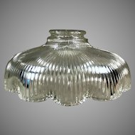Single Vintage Light Fixture Shade - Shallow with Scalloped Edge