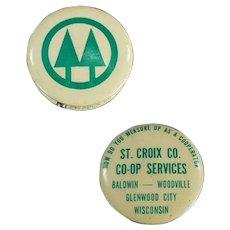 Vintage Celluloid Advertising Tape Measure - St. Croix Co-Op Services