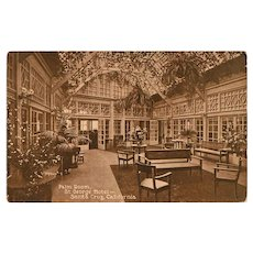 Vintage 1913 Photograph Postcard - St. George Hotel of Santa Cruz, California