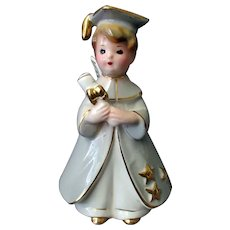 Vintage Josef Originals Boy Graduate Graduation Figurine with Label