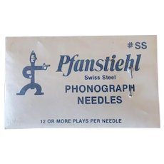 Vintage Pfanstiehl Swiss Steel Phonograph Needles - Unopened Package