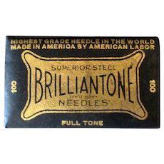 Vintage Brilliantone Steel Phonograph Needles 100 - Full Unopened Package