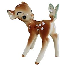 Vintage Disney Bambi with Butteryfly Figurine - Enesco