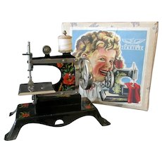 Vintage Casige Toy Sewing Machine with Original Graphic Box – British Zone Germany
