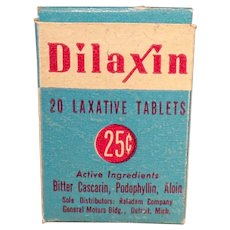 Vintage Medical Advertising - Dilaxin Laxative Tablets Medicine Box