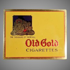 Vintage Old Gold Cigarettes Flat Tin - Very Nice Tobacco Advertising