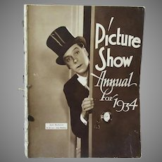 Vintage 1934 Picture Show Annual with Early Movie Stars